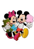 Sticker perete, Mickey si Minnie
