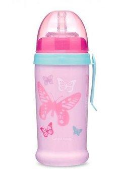 Sticla cu pai, Canpol, fluturasi roz, +12luni
