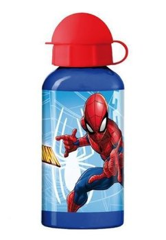 Sticla de aluminiu 400 ml, Spiderman, albastra