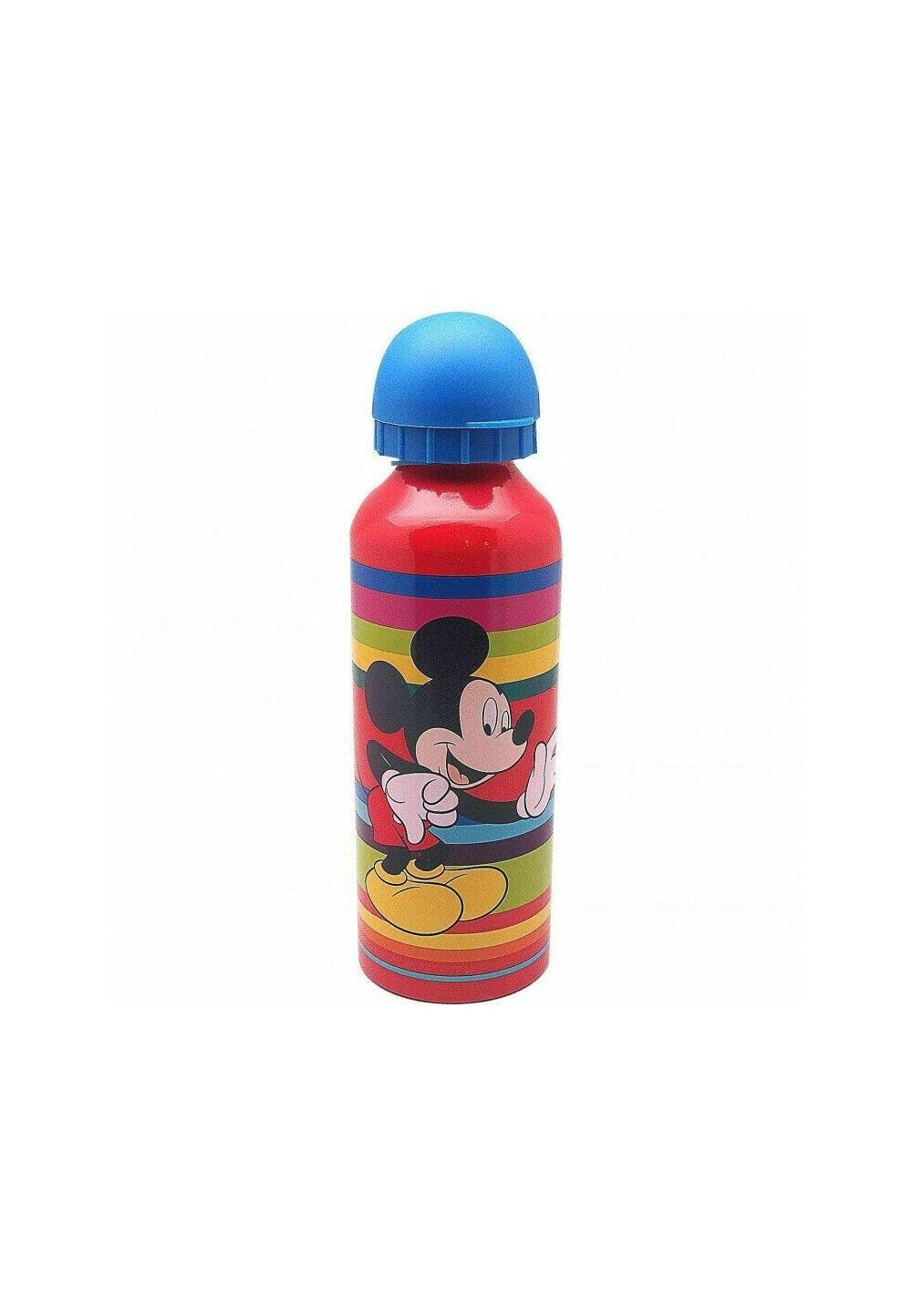 Sticla de aluminiu, Hey Mickey, rosie cu capac albastru imagine