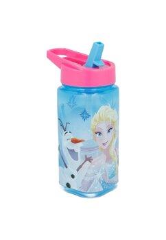Sticla pentru apa, cu pai, Frozen, albastra