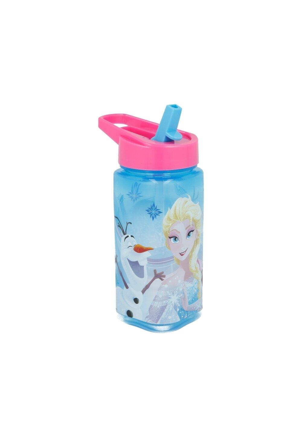 Sticla pentru apa, cu pai, Frozen, albastra imagine