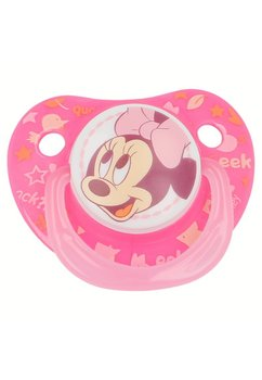 Suzeta cu tetina din silicon, roz, Minnie Mouse, 0-6 luni