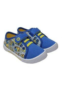 Tenisi cu scai, Minions, albastru cu gri