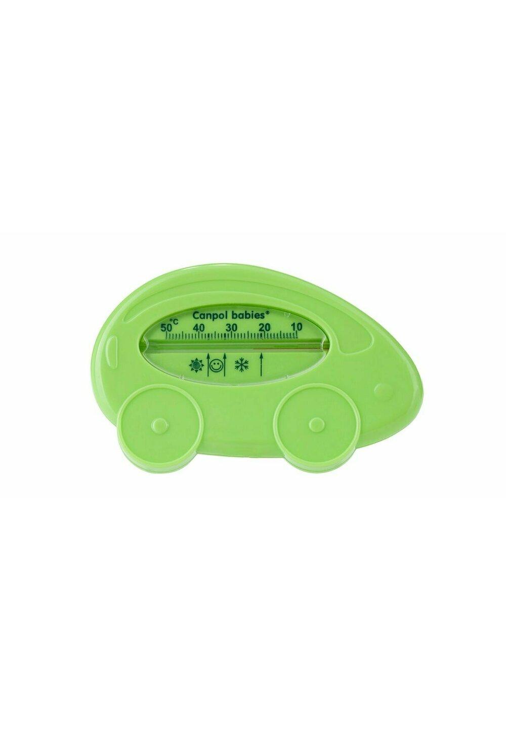 Termometru pentru baie, masinuta, verde imagine