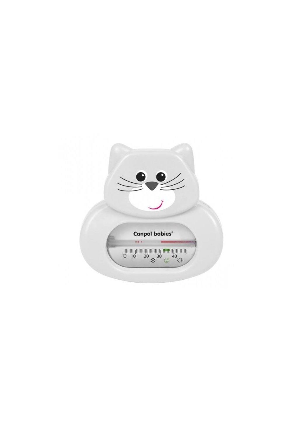 Termometru pentru baie, pisicuta, gri imagine