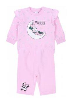Compleu bebe, Minnie, roz cu inimioare