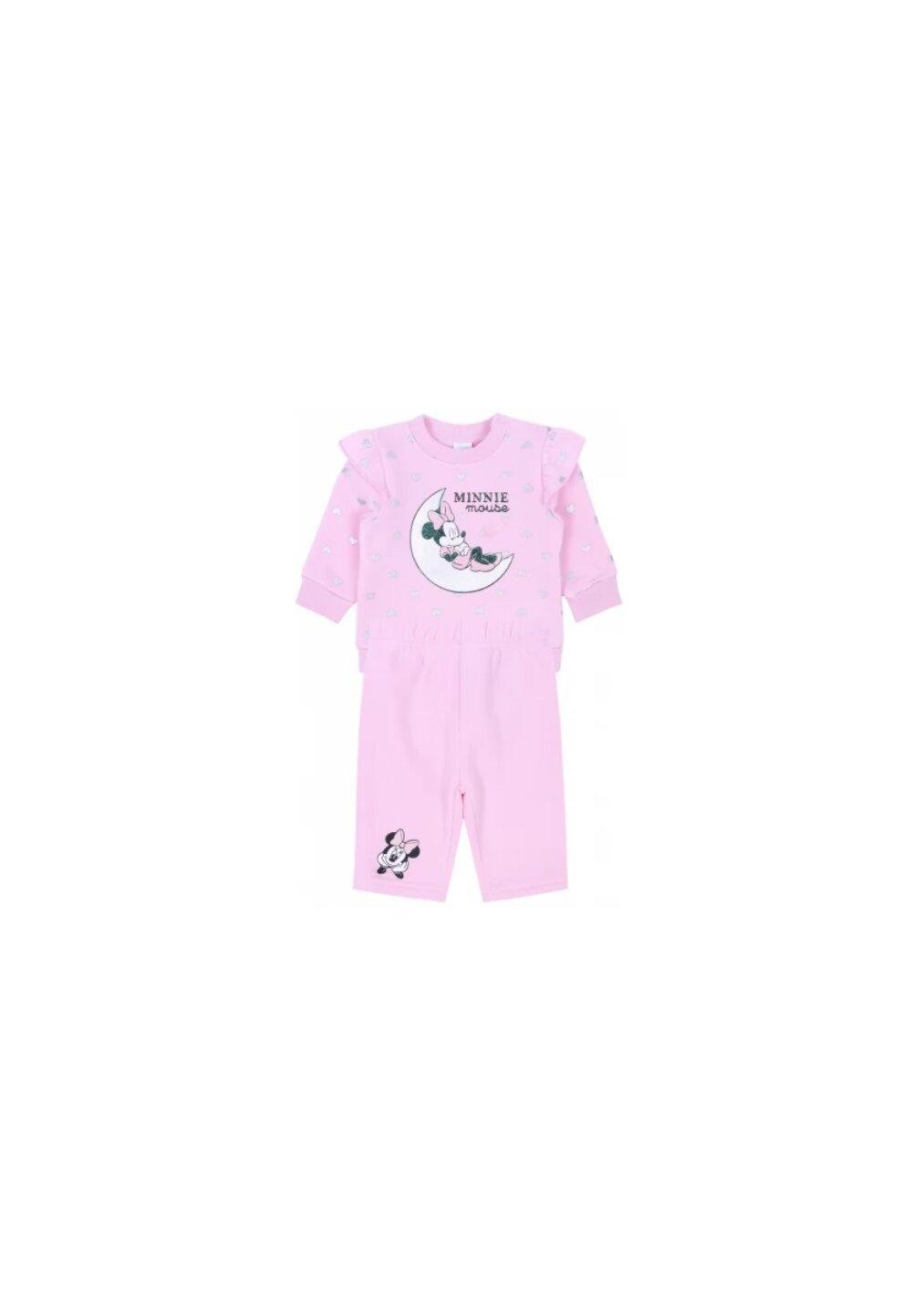 Compleu bebe, Minnie, roz cu inimioare imagine