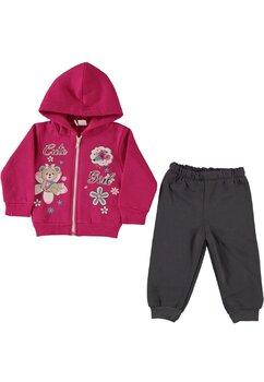Trening fete, Cute, roz inchis cu floricele