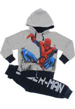 Trening Spider-Man, gri cu bluemarin