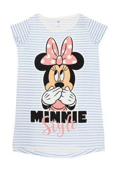 Tricou adulti, bumbac, Minnie Mouse, asimetric, alb
