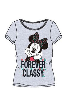 Tricou adulti, Minnie Mouse, Forever Classy, gri