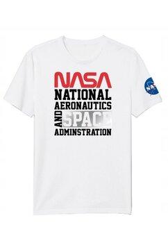 Tricou adulti, National aeronautics, alb