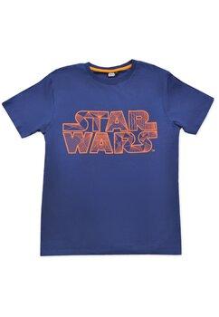 Tricou adulti, Star wars, albastru cu portocaliu