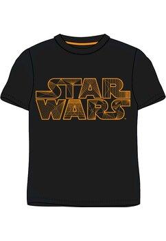 Tricou adulti, Star wars, negru cu portocaliu