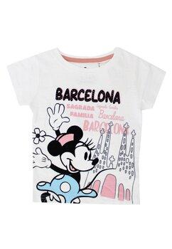 Tricou alb, Barcelona, Minnie Mouse