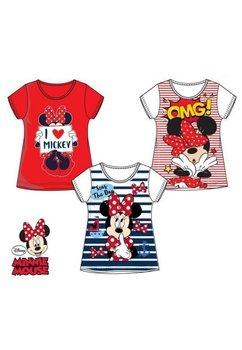 Tricou alb cu dungi rosii, Omg, Minnie Mouse