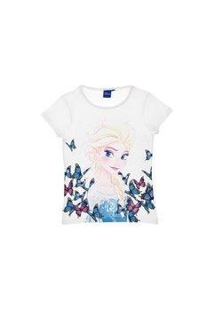 Tricou, alb cu fluturi, Elsa