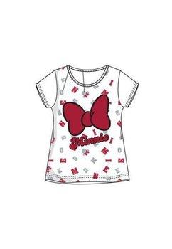 Tricou, alb cu fundita rosie, Minnie Mouse