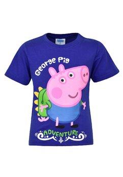 Tricou baieti, bumbac, George Pig, mov