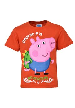 Tricou baieti, bumbac, George Pig, portocaliu