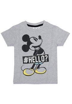 Tricou baieti, Hello Mickey, gri
