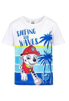 Tricou baieti, Surfing the Waves, albastru