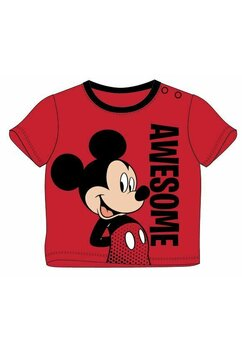 Tricou bebe, Awesome, Mickey Mouse, rosu