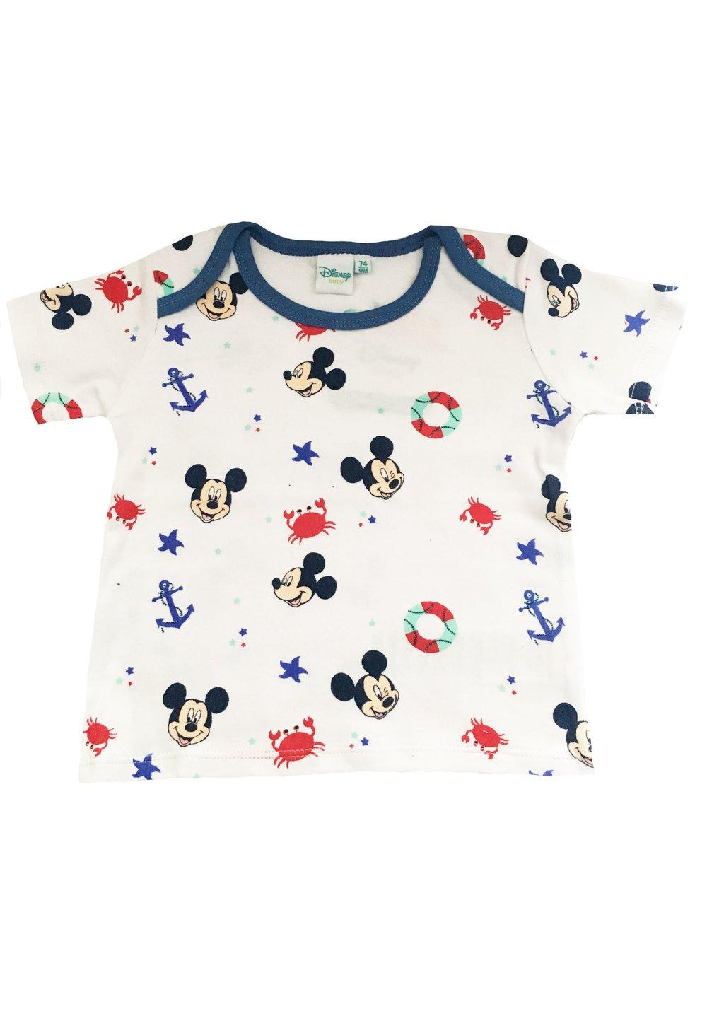 Tricou bebe, Mickey, ancore, alb