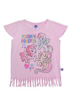 Tricou cu franjuri, Frends forever, Pony, roz