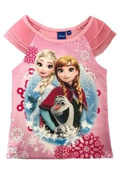 Tricou cu tull, Frozen, roz