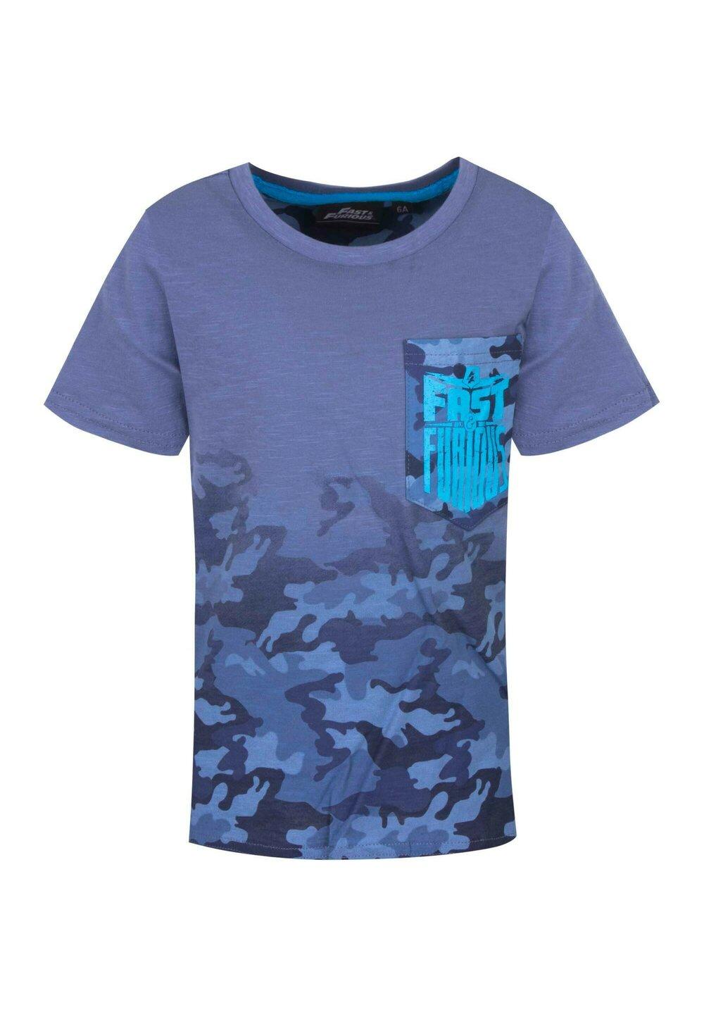 Tricou, Fast and Furious army, albastru imagine