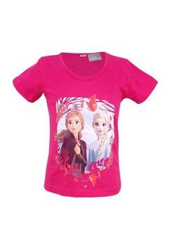 Tricou fete, Ana si Elsa, roz inchis