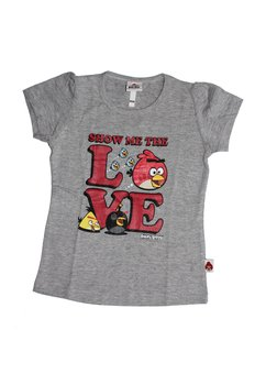 Tricou fete, Angry birds, gri