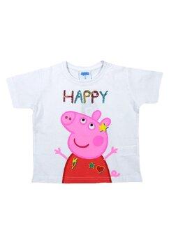 Tricou fete, Happy Pepa, alb