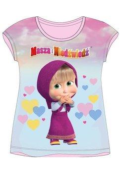 Tricou fete, Masha cu inimoare, roz