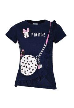 Tricou fete, Minnie, bluemarin cu gentuta si ochelari