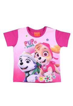 Tricou fete, Skye si Everest, roz inchis