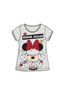 Tricou, gri cu fundita rosie, Minnie Mouse