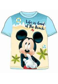 Tricou Mickey, life is good, albastru