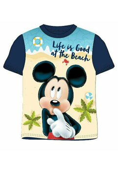 Tricou Mickey, life is good, bluemarin