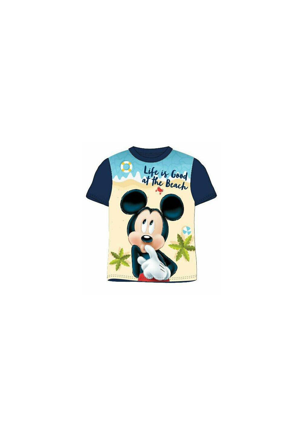 Tricou Mickey, life is good, bluemarin imagine