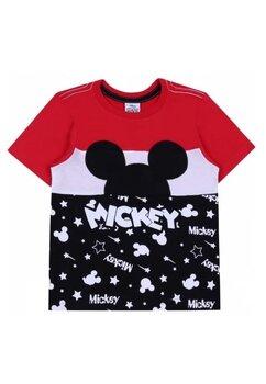 Tricou Mickey, rosu cu negru