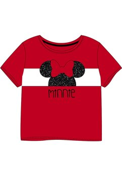 Tricou Minnie, rosu cu negru