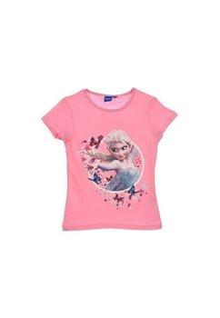 Tricou, roz cu fluturi, Elsa
