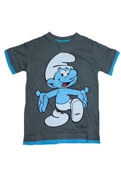 Tricou Smurf, gri inchis