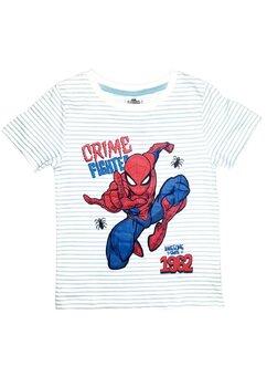 Tricou, Spider, Crime fighted, alb cu albastru