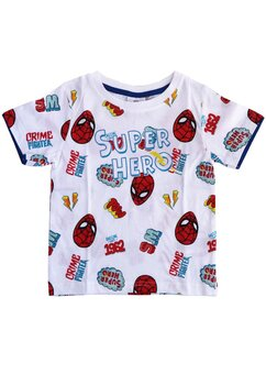 Tricou, Spider, Super Hero, alb