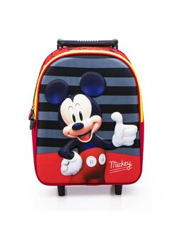 Troller Mickey Mouse, rosu cu dungi, 3D