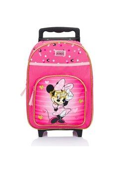 Troller Minnie Mouse, roz cu dungi si inimioare